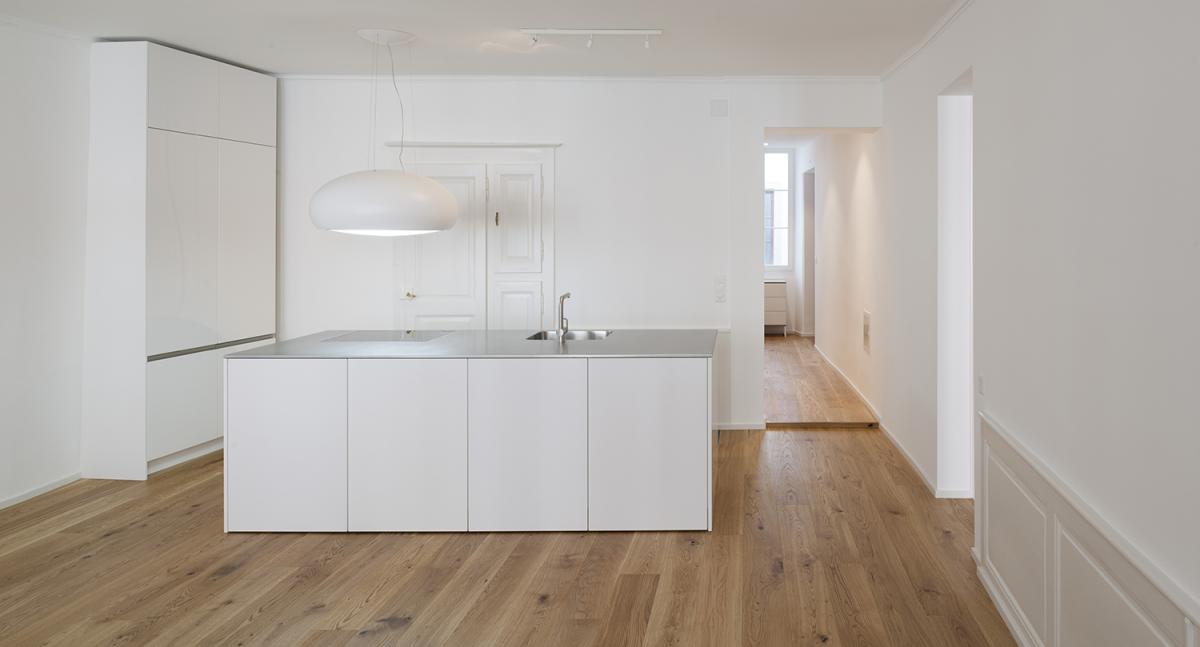 R novation d 39 un appartement vevey page architecte for Atelier cuisine vevey